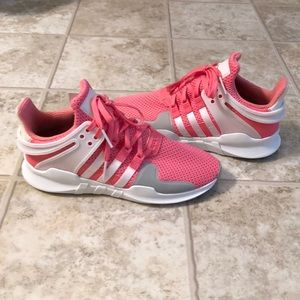 Brand New Pink and white Adidas tennis shoes